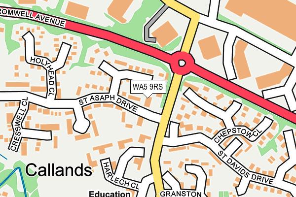 WA5 9RS map - OS OpenMap – Local (Ordnance Survey)