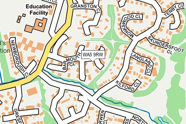 WA5 9RW map - OS OpenMap – Local (Ordnance Survey)