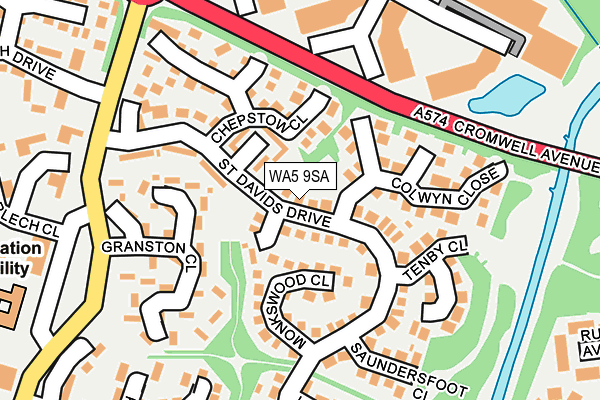 WA5 9SA map - OS OpenMap – Local (Ordnance Survey)