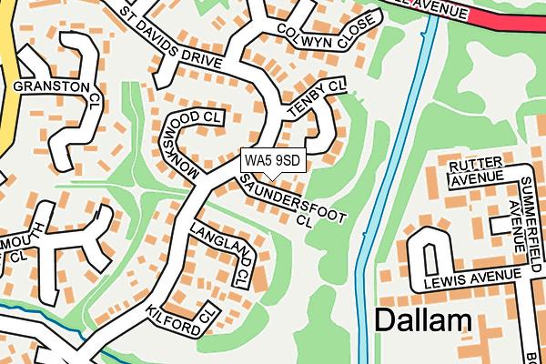 WA5 9SD map - OS OpenMap – Local (Ordnance Survey)