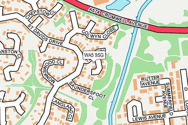 WA5 9SG map - OS OpenMap – Local (Ordnance Survey)