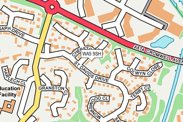 WA5 9SH map - OS OpenMap – Local (Ordnance Survey)