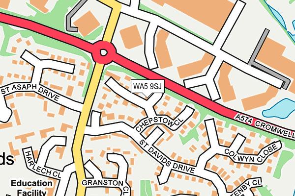 WA5 9SJ map - OS OpenMap – Local (Ordnance Survey)