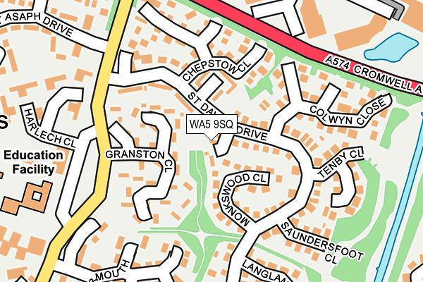 WA5 9SQ map - OS OpenMap – Local (Ordnance Survey)
