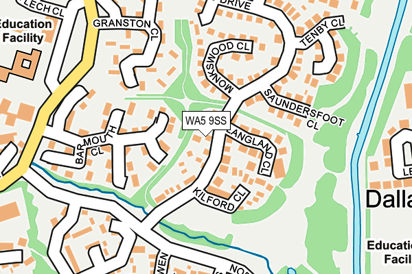 WA5 9SS map - OS OpenMap – Local (Ordnance Survey)
