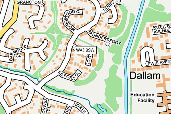 WA5 9SW map - OS OpenMap – Local (Ordnance Survey)