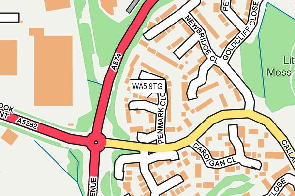 WA5 9TG map - OS OpenMap – Local (Ordnance Survey)