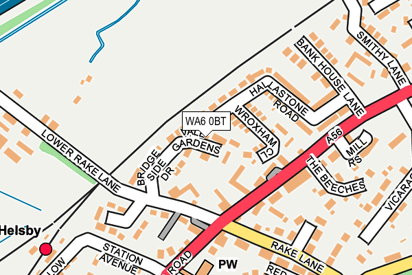 Map of AWMELLOR ASSOCIATES LIMITED at local scale
