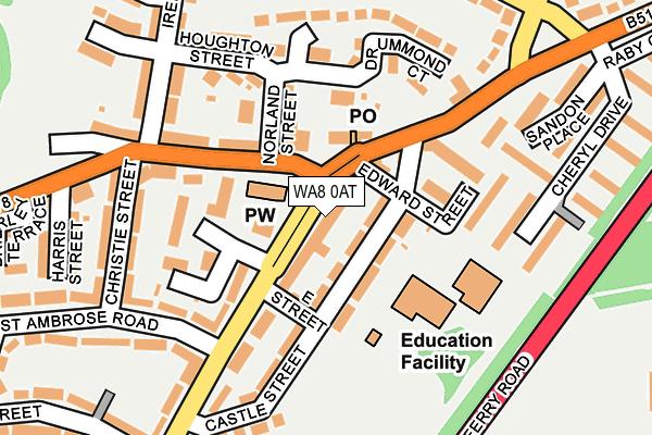 WA8 0AT map - OS OpenMap – Local (Ordnance Survey)