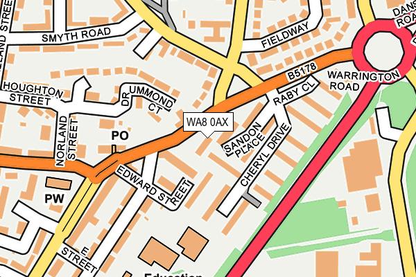 WA8 0AX map - OS OpenMap – Local (Ordnance Survey)
