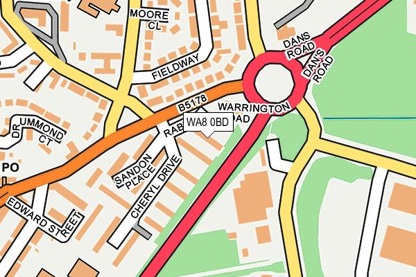 WA8 0BD map - OS OpenMap – Local (Ordnance Survey)