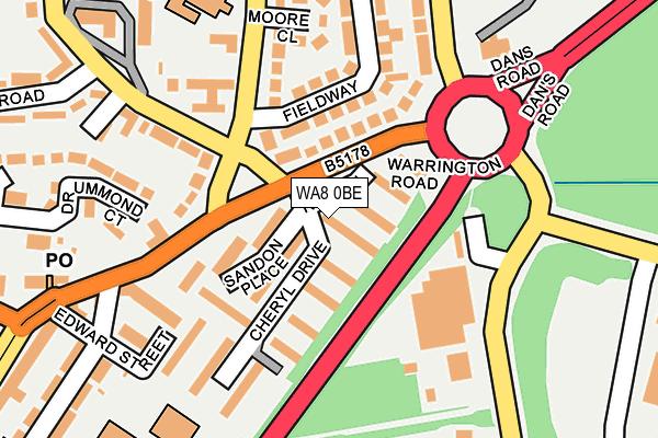 WA8 0BE map - OS OpenMap – Local (Ordnance Survey)