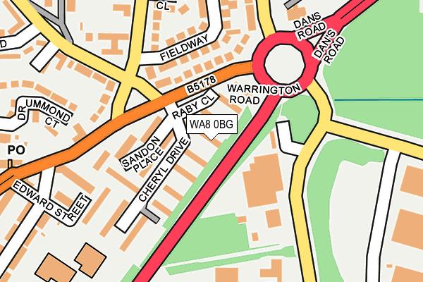 WA8 0BG map - OS OpenMap – Local (Ordnance Survey)