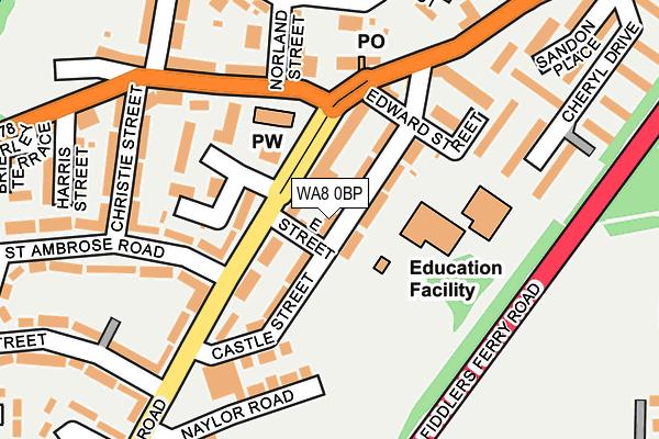 WA8 0BP map - OS OpenMap – Local (Ordnance Survey)