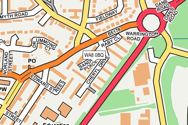 WA8 0BQ map - OS OpenMap – Local (Ordnance Survey)