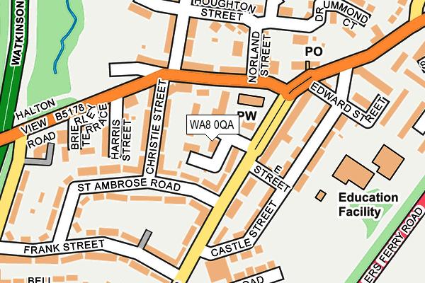 WA8 0QA map - OS OpenMap – Local (Ordnance Survey)