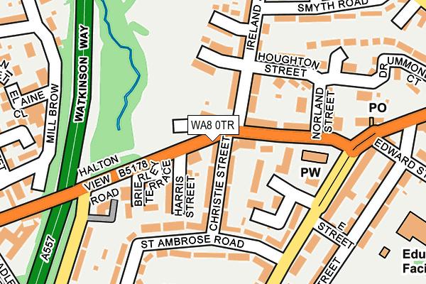 WA8 0TR map - OS OpenMap – Local (Ordnance Survey)