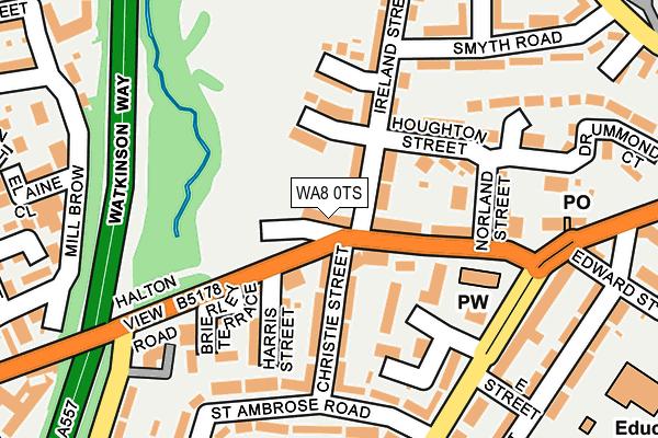 WA8 0TS map - OS OpenMap – Local (Ordnance Survey)