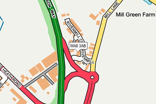 WA8 3AB map - OS OpenMap – Local (Ordnance Survey)
