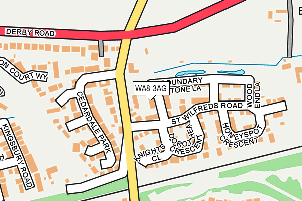 WA8 3AG map - OS OpenMap – Local (Ordnance Survey)