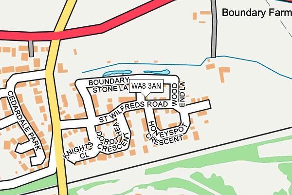 WA8 3AN map - OS OpenMap – Local (Ordnance Survey)