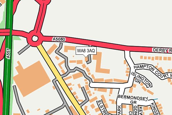 WA8 3AQ map - OS OpenMap – Local (Ordnance Survey)