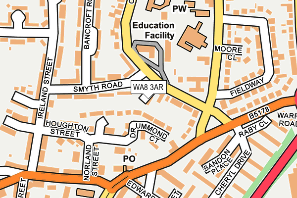 WA8 3AR map - OS OpenMap – Local (Ordnance Survey)