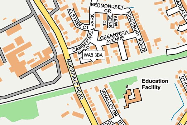 WA8 3BA map - OS OpenMap – Local (Ordnance Survey)
