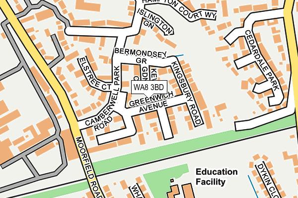 WA8 3BD map - OS OpenMap – Local (Ordnance Survey)