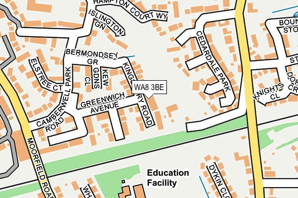 WA8 3BE map - OS OpenMap – Local (Ordnance Survey)
