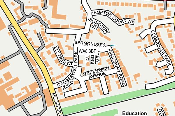 WA8 3BF map - OS OpenMap – Local (Ordnance Survey)