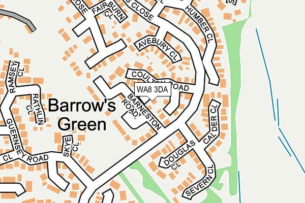 WA8 3DA map - OS OpenMap – Local (Ordnance Survey)