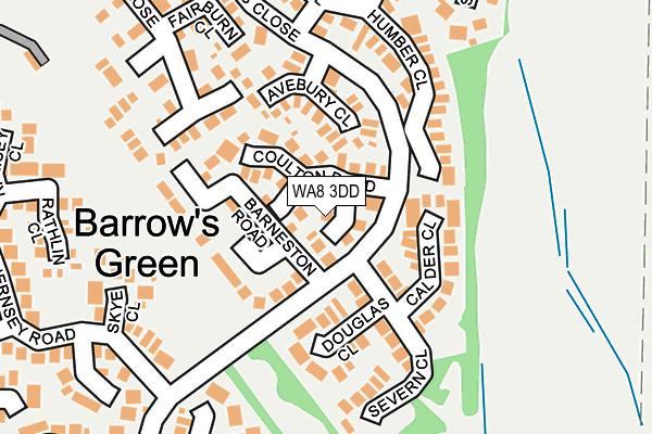 WA8 3DD map - OS OpenMap – Local (Ordnance Survey)