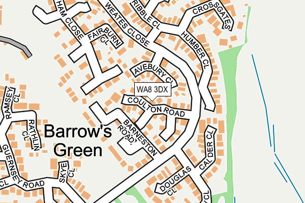 WA8 3DX map - OS OpenMap – Local (Ordnance Survey)