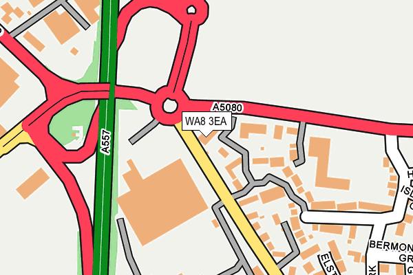 WA8 3EA map - OS OpenMap – Local (Ordnance Survey)