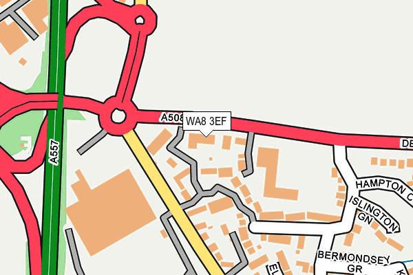WA8 3EF map - OS OpenMap – Local (Ordnance Survey)