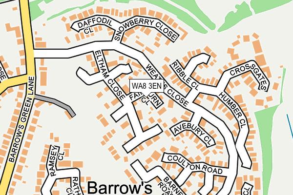 WA8 3EN map - OS OpenMap – Local (Ordnance Survey)