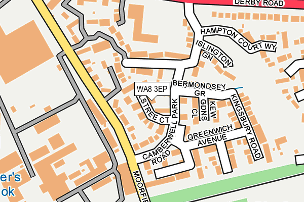 WA8 3EP map - OS OpenMap – Local (Ordnance Survey)