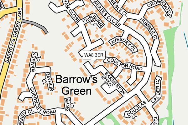 WA8 3ER map - OS OpenMap – Local (Ordnance Survey)