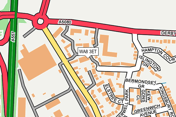 Map of THE GUTTER CLEANING COMPANY LTD at local scale