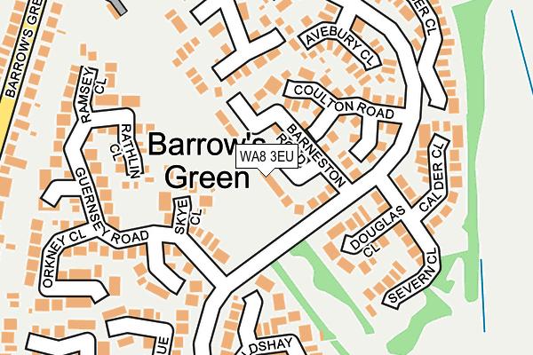 WA8 3EU map - OS OpenMap – Local (Ordnance Survey)