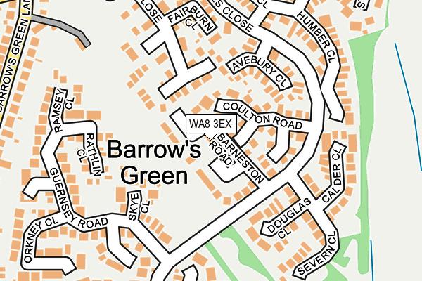 WA8 3EX map - OS OpenMap – Local (Ordnance Survey)