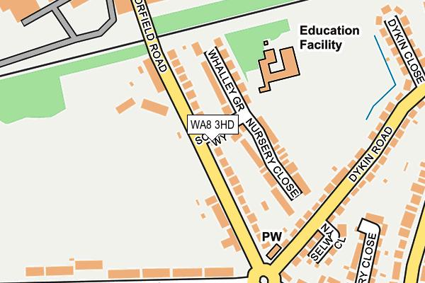 WA8 3HD map - OS OpenMap – Local (Ordnance Survey)