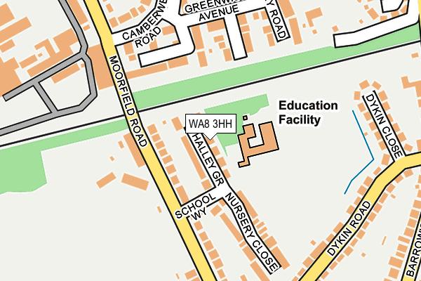 WA8 3HH map - OS OpenMap – Local (Ordnance Survey)