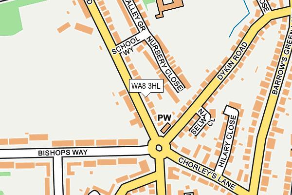 WA8 3HL map - OS OpenMap – Local (Ordnance Survey)