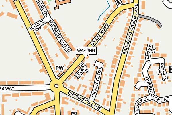 WA8 3HN map - OS OpenMap – Local (Ordnance Survey)