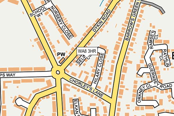 WA8 3HR map - OS OpenMap – Local (Ordnance Survey)