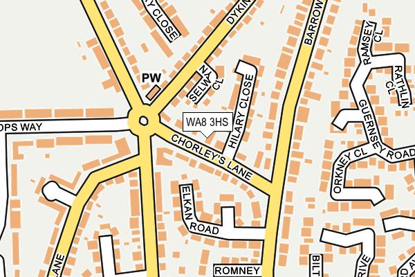 WA8 3HS map - OS OpenMap – Local (Ordnance Survey)