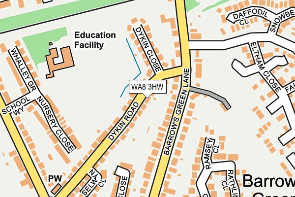 WA8 3HW map - OS OpenMap – Local (Ordnance Survey)