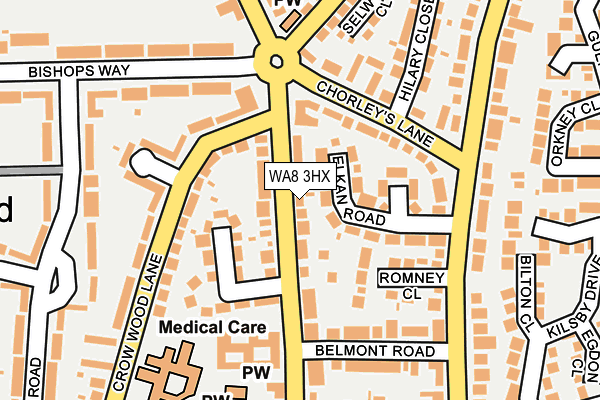 Map of M J D PLASTERING CONTRACTORS LTD at local scale